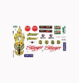 Pine Car (PIN) Dry Transfer Decals, Stinger