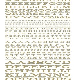Woodland Scenics (WOO) Dry Transfer Extended Roman Letters, Gold