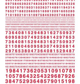 Woodland Scenics (WOO) Dry Transfer Gothic Numbers, Red
