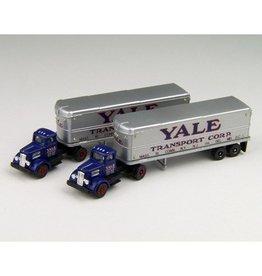 Classic Metal Works (MWI) N White WC22 Trac/Aero Trlr,Yale(2