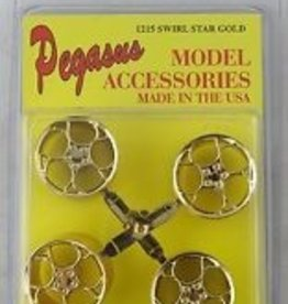 Pegasus Hobby (PGH) 1/25 WHEELS SWIRL STAR GOLD
