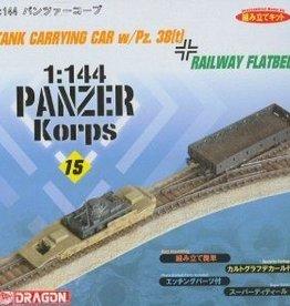 Dragon Models (DML) 1/144 Tank Carrying Car w/Pz38t & Flatbed