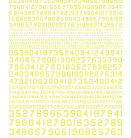 Woodland Scenics (WOO) Dry Transfer Gothic 45 Deg USA Numbers, Yellow