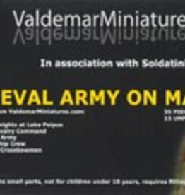 Valdemar Miniatures (VMS) 1/72 Medieval Army on March