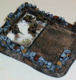 Foxhole Terrain (FHT) 15mm Large Stone Ruins for FOW Large Base (2)