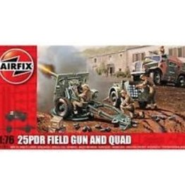 Airfix (ARX) 1/76 25pdr Field Gun and Quad Tractor