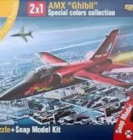 """Italeri (ITA) 1/100 AMX """"Ghibi"""" Snap Kit + 150 pc Puzzle"""
