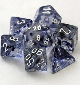 Chessex (CHX) Nebula: Poly Black w/ White (7)