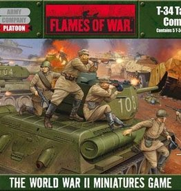 Flames of War (FOW) 15mm FOW T-34 Company (5 plastic tanks)