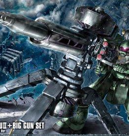 Bandai (BAN) 1/144 MS-06 ZAKU II & BIG GUN GUNDAM HG