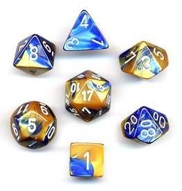 Chessex (CHX) Gemini Poly Blue Gold/White (7)