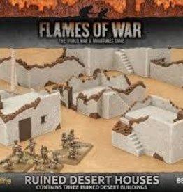 Flames of War (FOW) 15mm Ruined Desert Houses