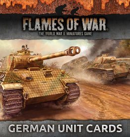 Flames of War (FOW) FOW Armies of Late War German Unit Cards