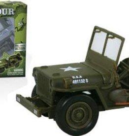 WOW Toyz (WOW) 1/32 E-Z Build Classic Armour Jeep Willys Model Kit
