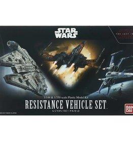 Bandai (BAN) Star Wars Resistance Vehicles Set 1/144 Poe's X-Wing & Blue Squadron X-Wing, & 1/350 Millenium Falcon)