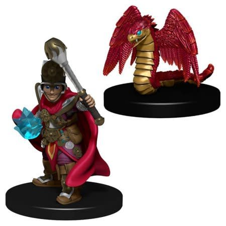 Wizkids (WZK) Wardlings - Boy Cleric & Winged Snake