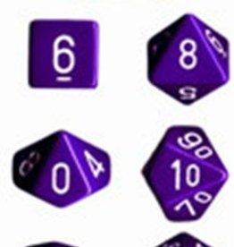 Chessex (CHX) Opaque: Poly Set Purple w/White