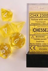 Chessex (CHX) Translucent: Poly Yellow w/ White (7
