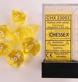 Chessex (CHX) Translucent: Poly Yellow w/ White (7