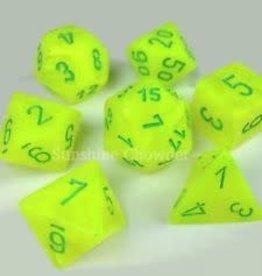 Chessex (CHX) 7die Vortex Yellow/Green