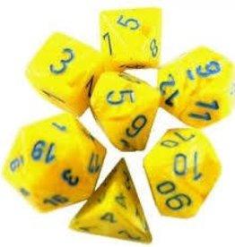 Chessex (CHX) 7 die Vortex: Yellow/Blue