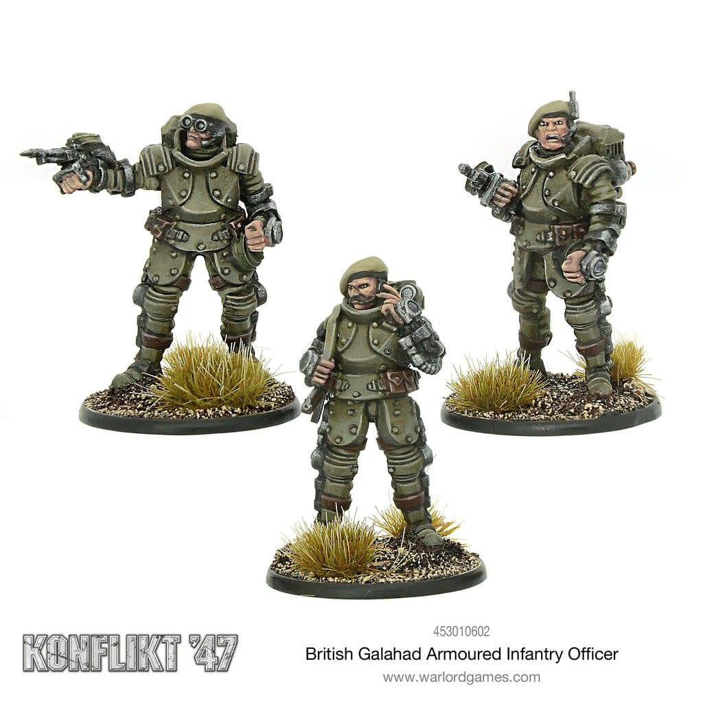 Warlord Games (WLG) K47 BRITISH GALAHAD ARMOURED INFANTRY OFFICER