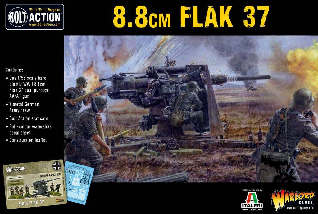 Warlord Games (WLG) 28mm GERMAN ARMY FLAK 37 8.8CM PLASTIC