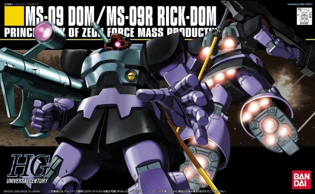 Bandai (BAN) 1/144 MS-09/MS-09R Dom/Rick-Dom HG UC