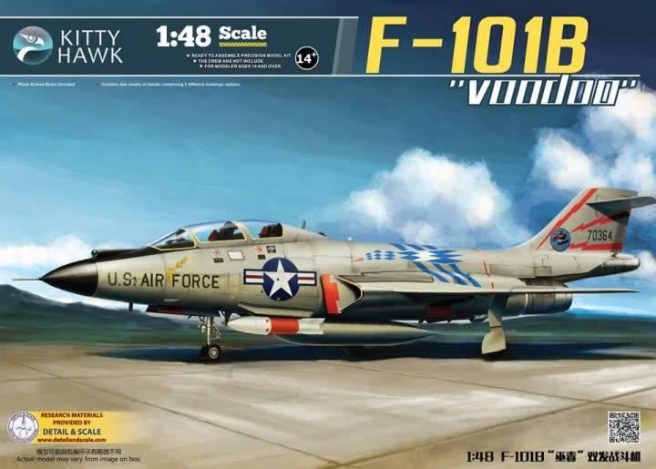 Kitty Hawk Models (KHM) 1/48 F-101B/RF-101B Voodoo