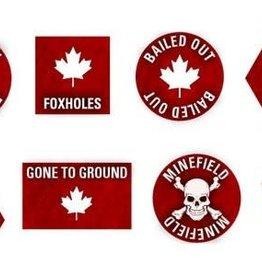 Flames of War (FOW) Team Yankee Canadian Token Set