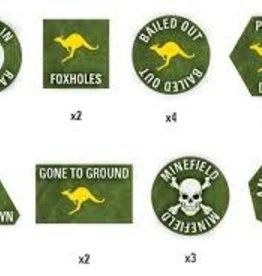 Flames of War (FOW) Team Yankee Australian Token Set