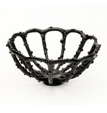Branch Encrusted Branch cast bronze bowl