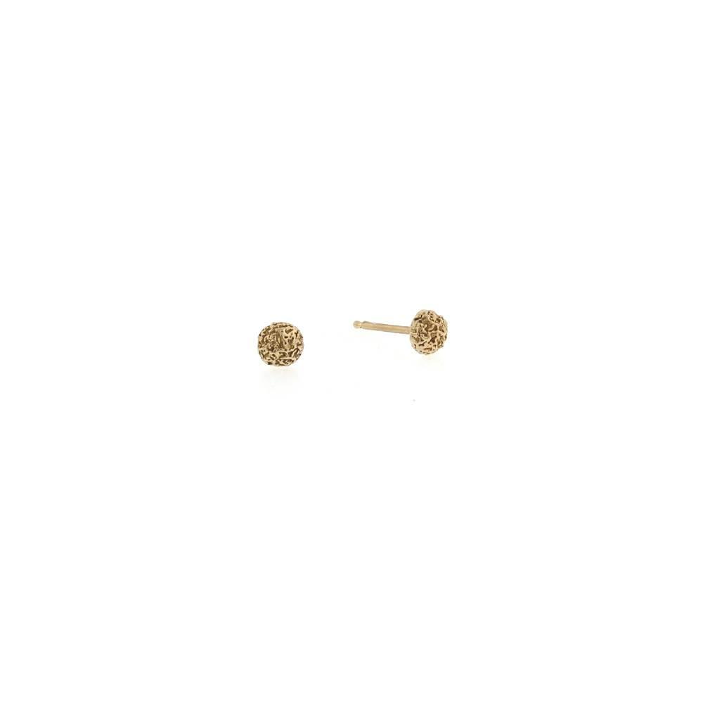 Branch Mini Moss Dot rose gold stud earrings