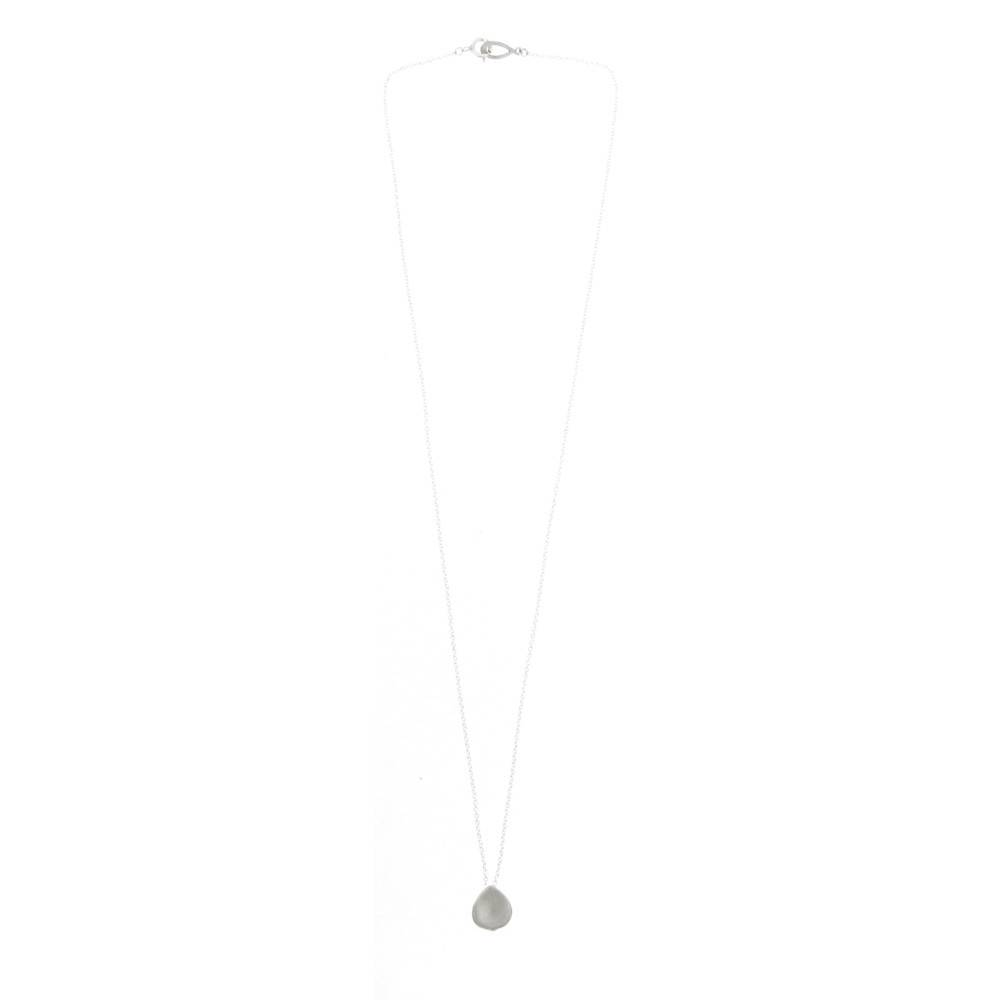 Branch Small Rose Petal silver pendant necklace
