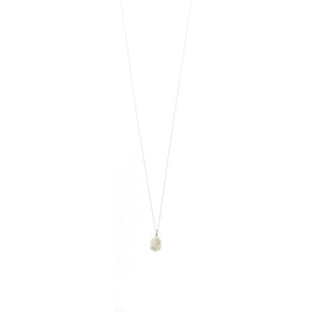 Branch Faceted Drop Necklace