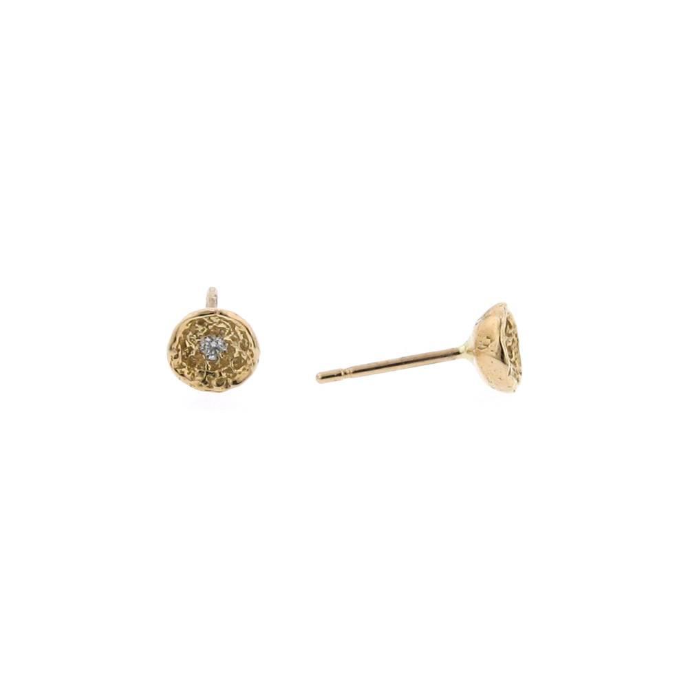Branch Mini Moss Shell Earrings Rose Gold