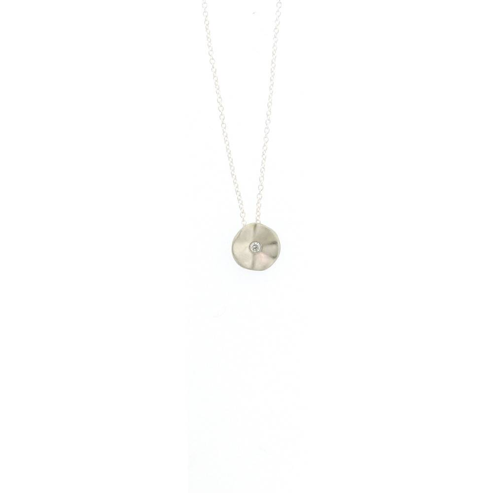 Branch Seed silver necklace with diamond