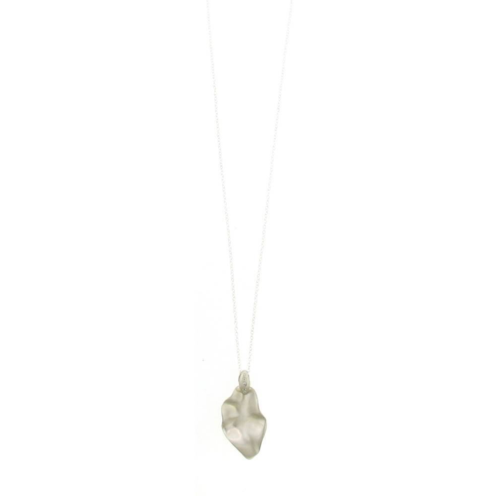 Branch Twisted Leaf silver necklace