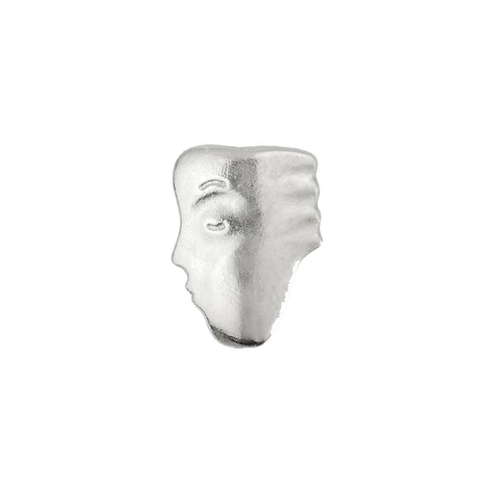 Alex Sepkus The Big Sleep Face #3 palladium stud earrings
