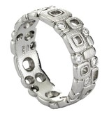 Alex Sepkus Little Windows platinum band ring with diamonds