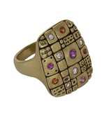 Alex Sepkus Old Pathway gold ring with sapphires and diamonds