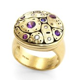Alex Sepkus Early Spring gold ring with sapphires and diamonds