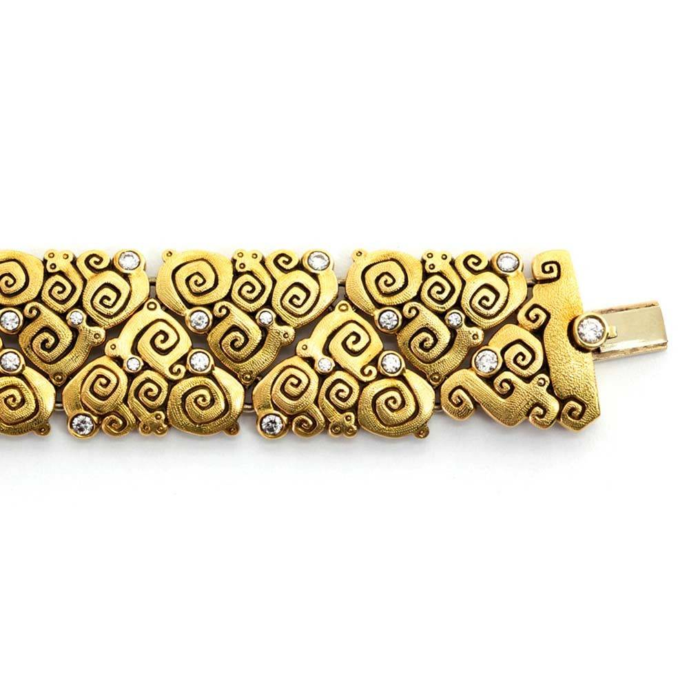 Alex Sepkus Garden J Bracelet in 18K Gold and Diamonds