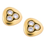 Alex Sepkus Swirling Water gold stud earrings with diamonds