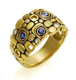 Alex Sepkus Little Windows Dome gold ring with diamonds