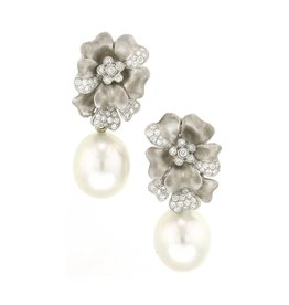Assael South Sea Pearl Flower Earrings