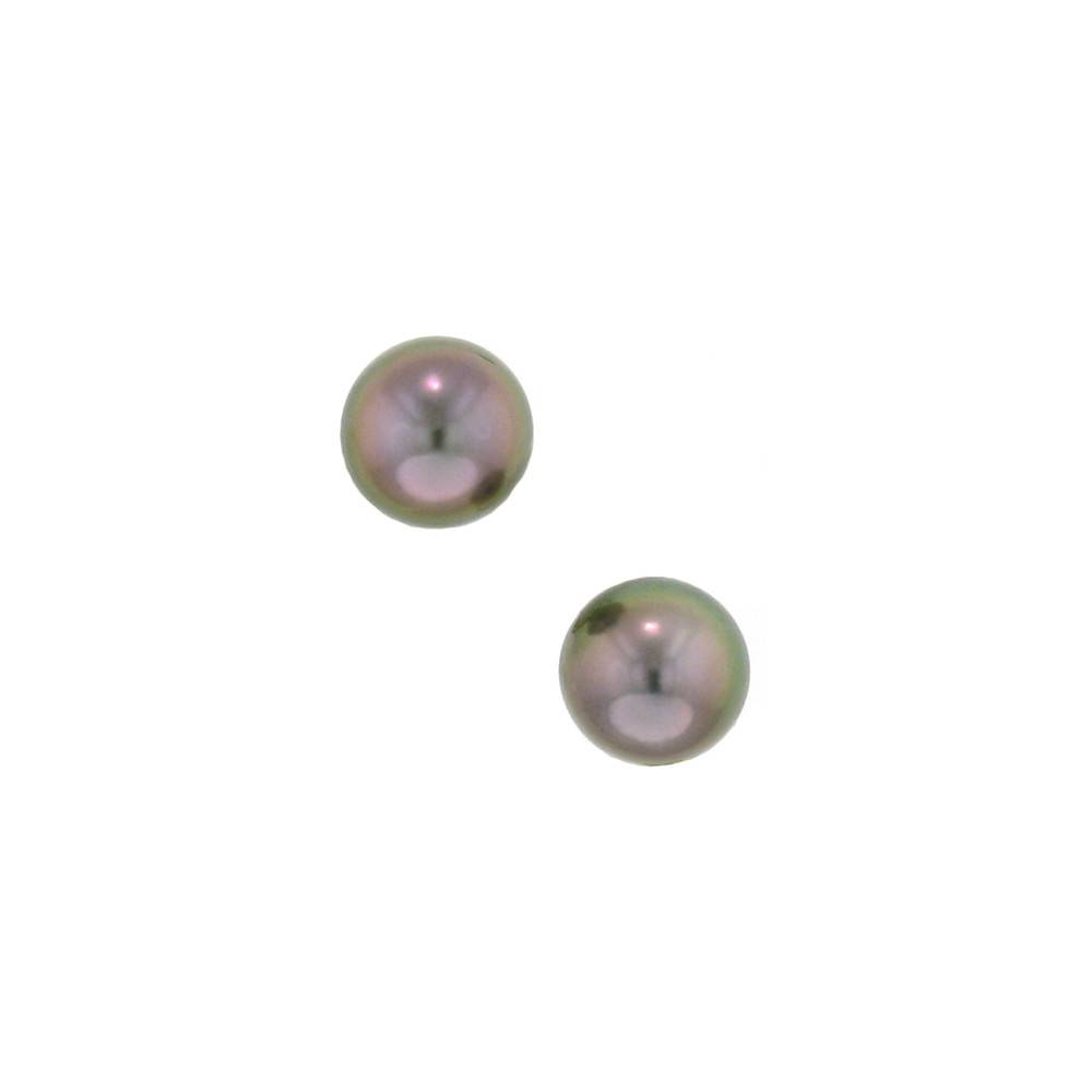 Assael Tahitian pearl button clip earrings in yellow gold