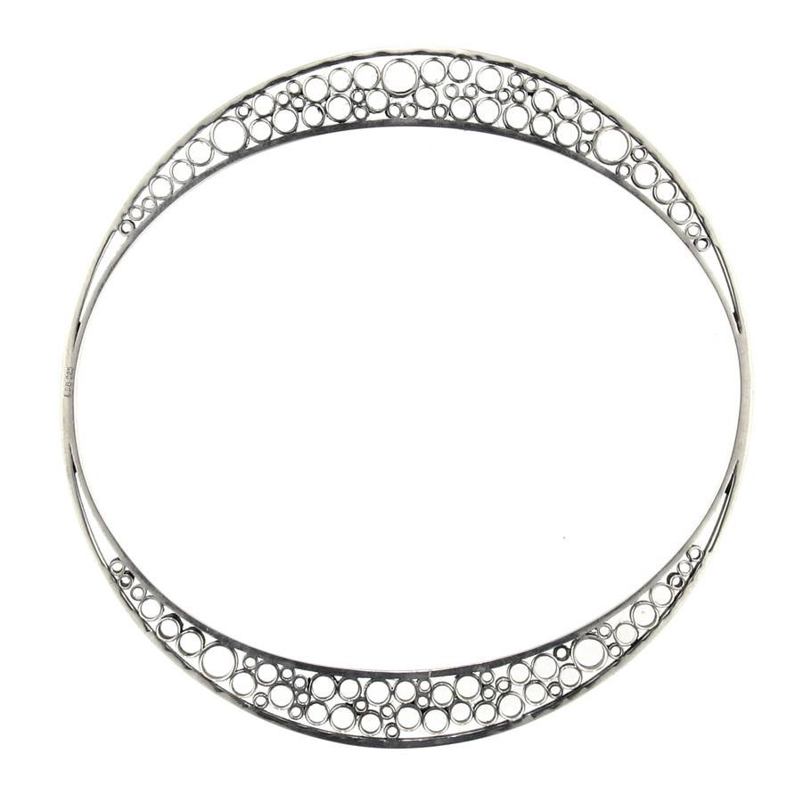 Belle Brooke Metropolis Collection Skinny silver medium bangle