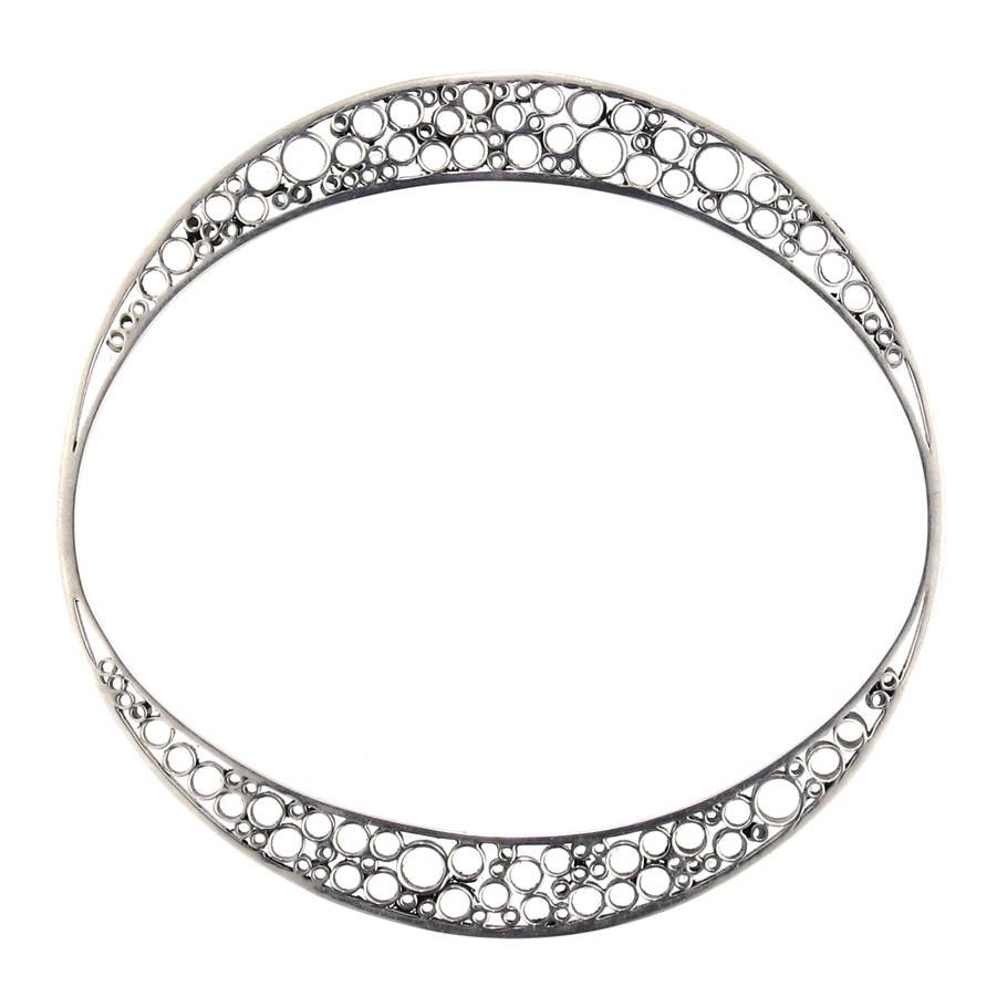 Belle Brooke Metropolis Collection Skinny silver small bangle