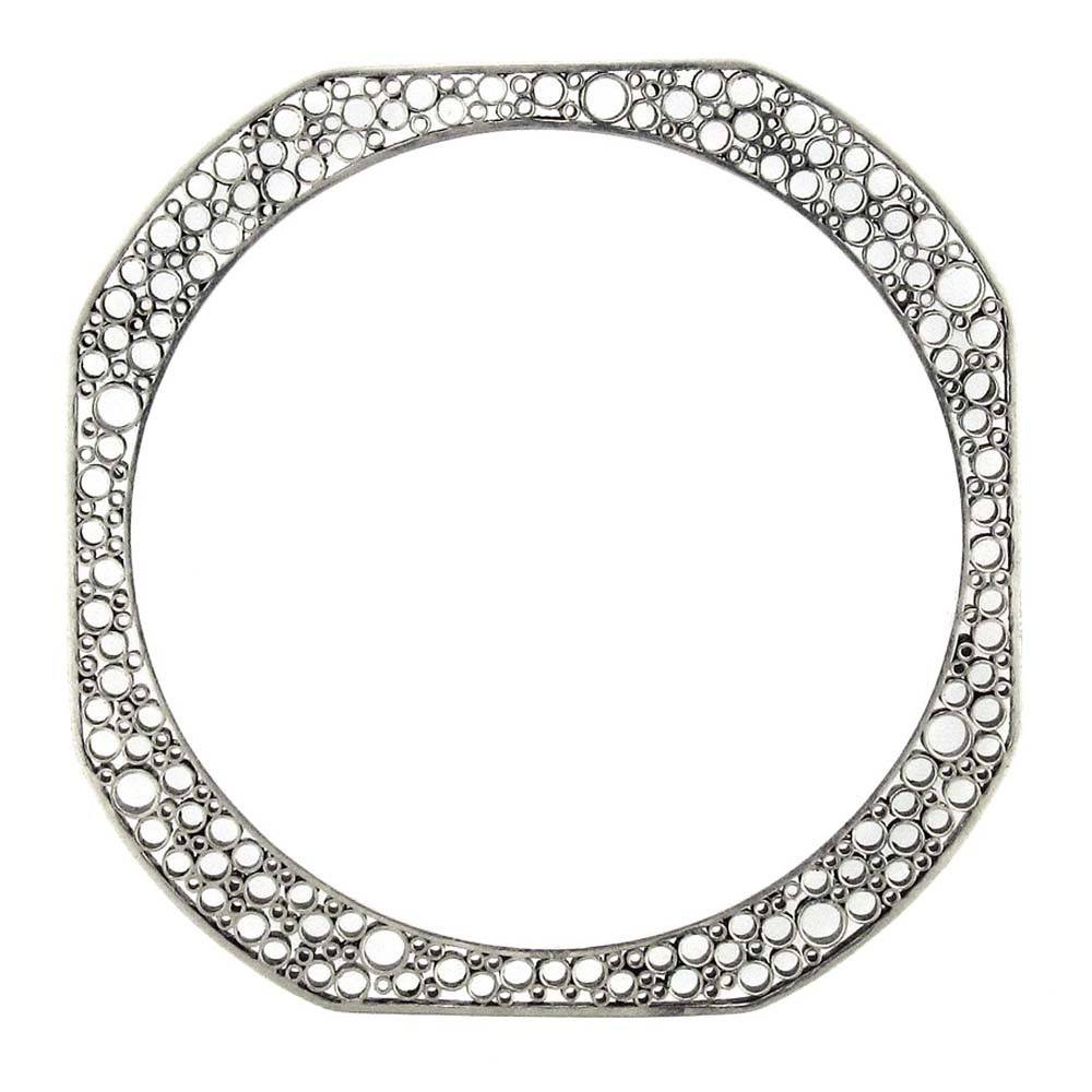 Belle Brooke Metropolis Collection Skinny Square silver large bangle
